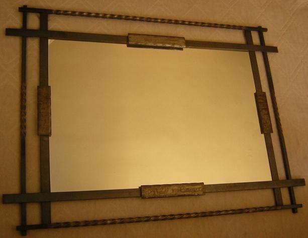 Espejo artesanal en fierro forjado - Fierro forjado santiago ...