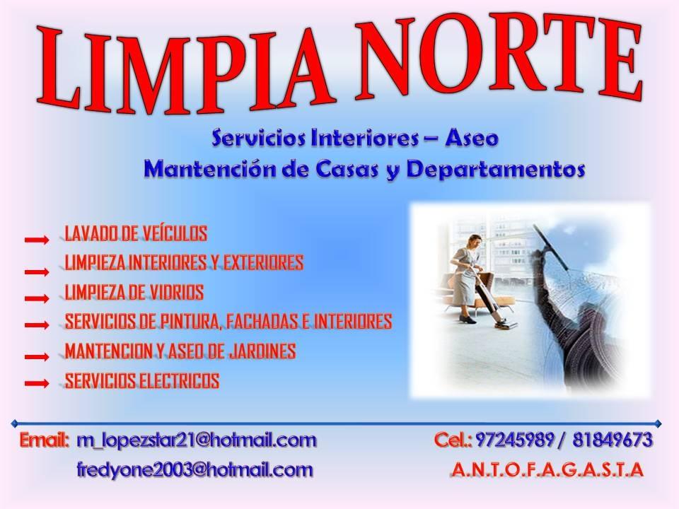 Limpia norte servicios interiores aseo y mantencion de for Anuncios de limpieza