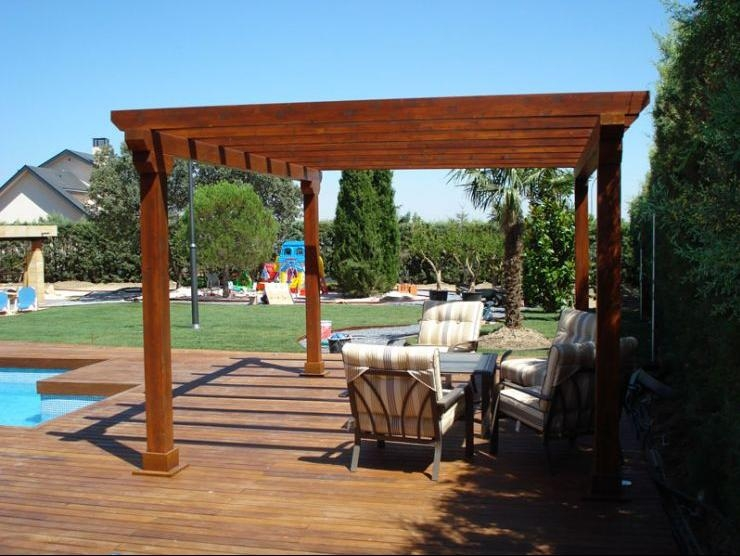 Terrazas p rgolas y cobertizos en madera santiago fotos - Maderas para terrazas ...