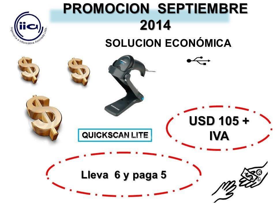 Foto Oferta mes de septiembre quickscan lite datalogic solucion economica