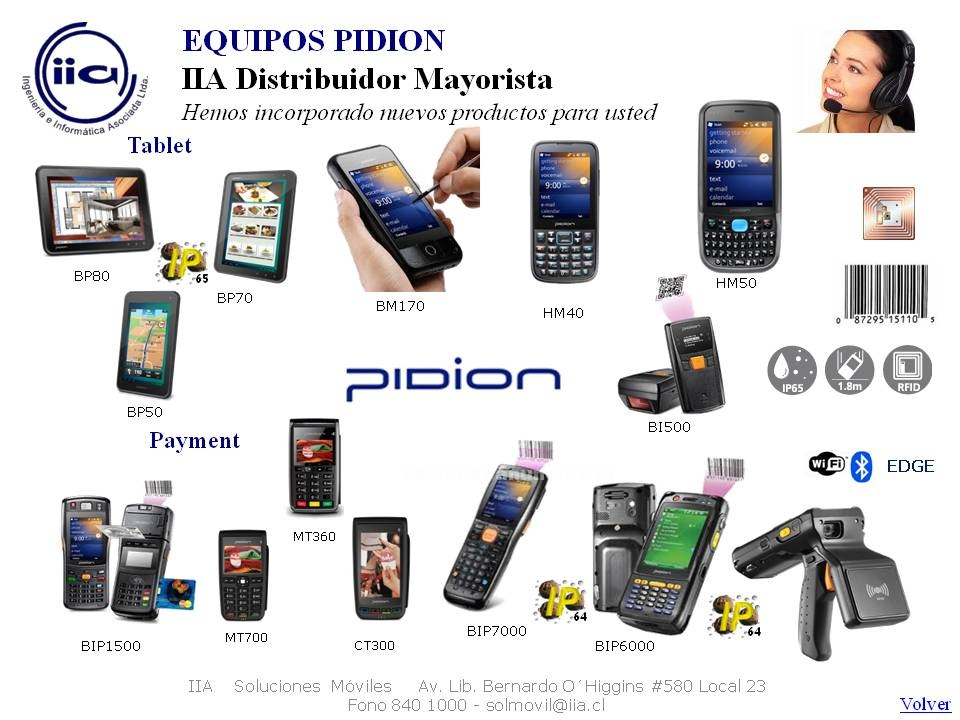 Foto Soluciones pidion tablets, pda, handheld, paymend