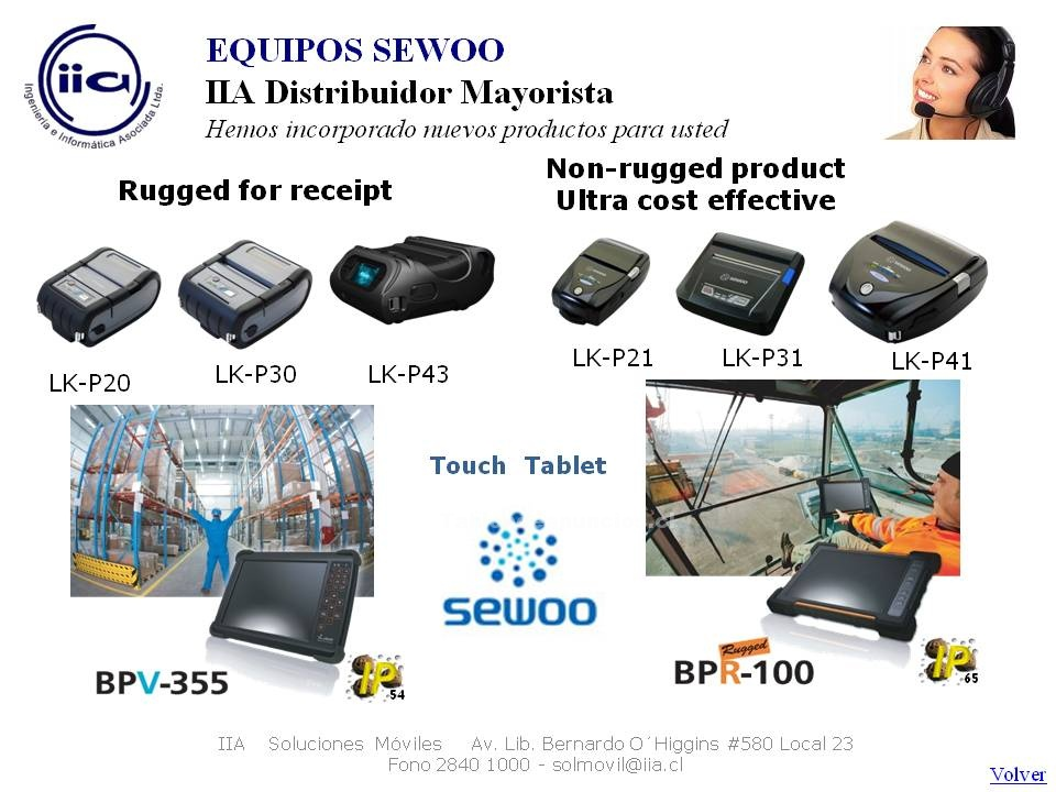Foto Impresoras sewoo, soluciones para parquimetros e inventarios