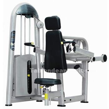 Foto Máquina de ejercicio fuerza, fondo tríceps