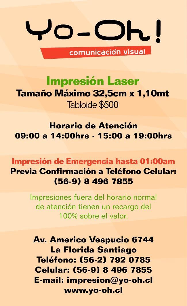 Foto Impresión laser