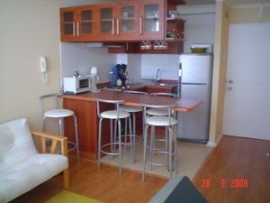 Arriendo depto amueblado 2 dormitorio cocina americana for Cocina americana para departamento pequeno
