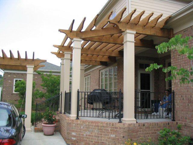 Terrazas p rgolas y cobertizos en madera santiago fotos for Cobertizos para terrazas