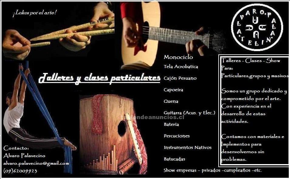 Foto Clases talleres : tela acrobatica - bateria -cajon peruano - batucadas. y mas.