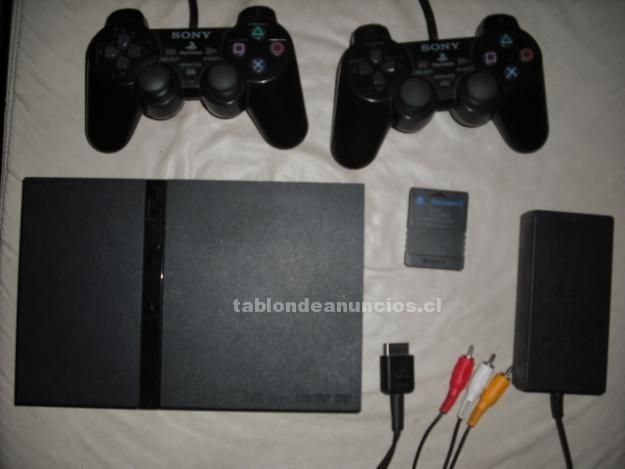 Foto Ps2 slim desbloqueada + 3 controles + memoria 8 mb + juegos