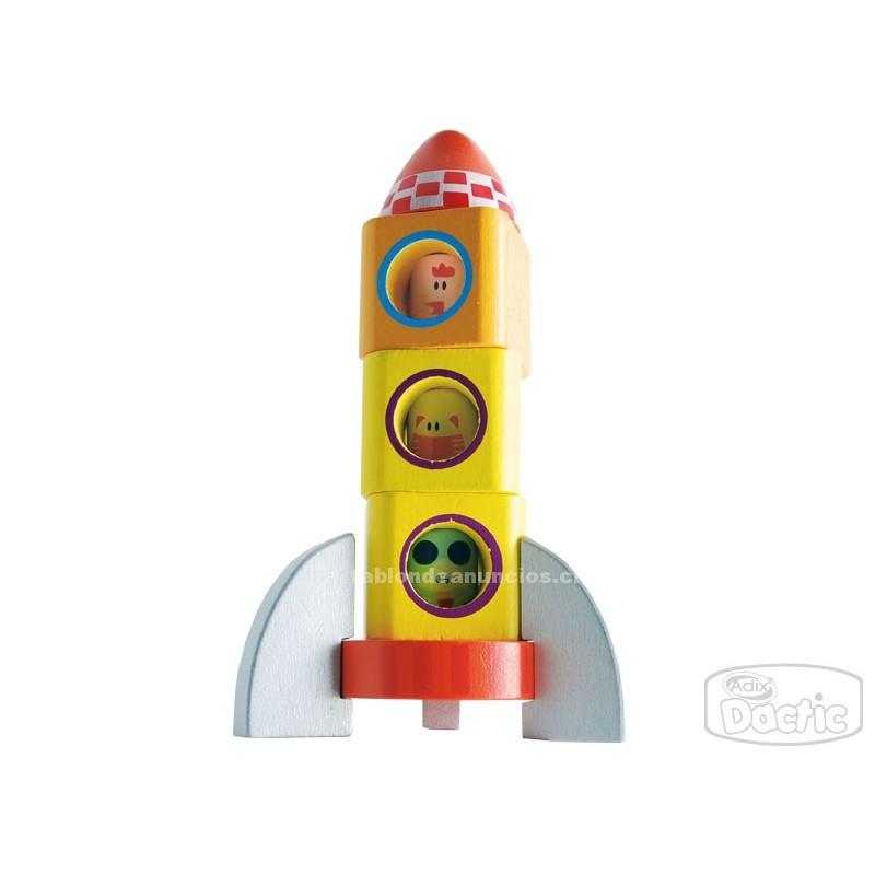 Foto Encaje cohete de madera para niños dactic