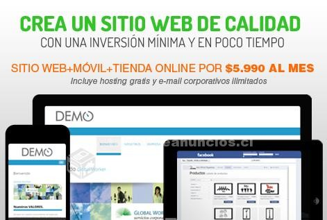 Foto Sitio web administrable a bajo costo pago mensual