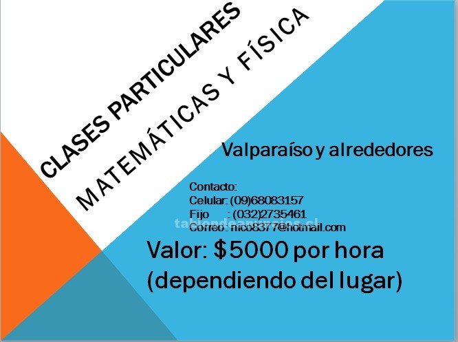 Foto Clases matemáticas y física