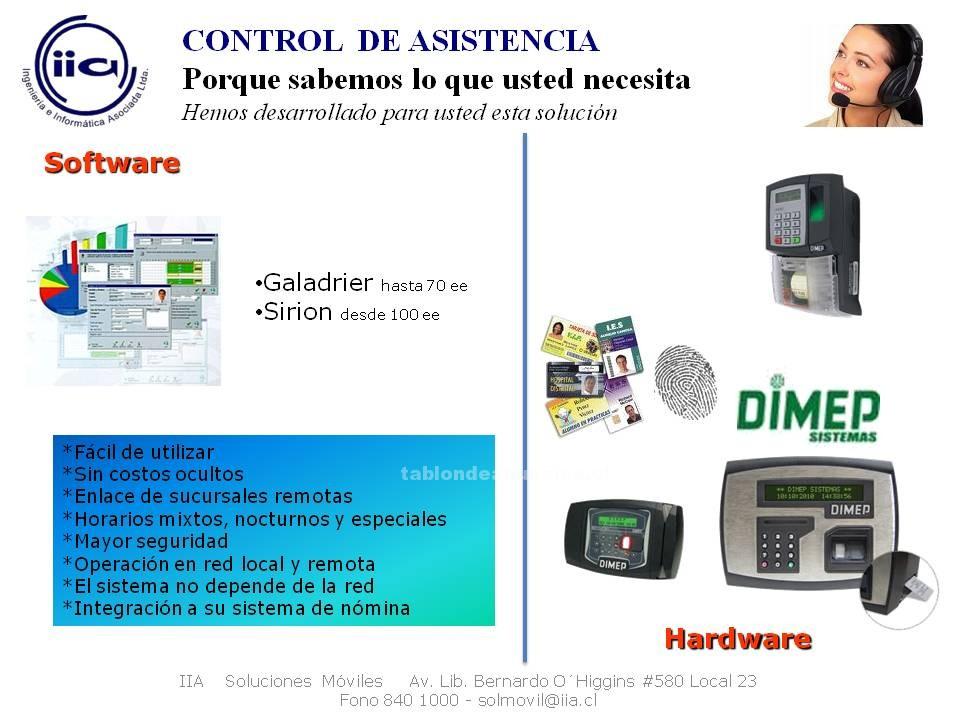 Foto Control de asistencia, dimep, software, hardware, reloj, sistemas,seguridad