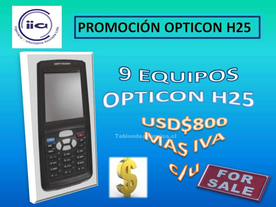 Foto Promocion iia opticon h-25 2d capturador 2014