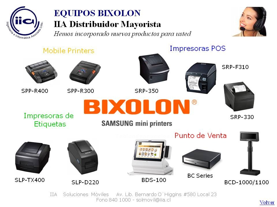 Foto Impresoras bixolon soluciones moviles